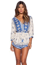 Spell & The Gypsy Collective Coyote Playsuit in Royal Blue
