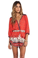 Spell & The Gypsy Collective Desert Wanderer Playsuit in Sunset