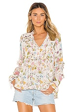 Spell & The Gypsy Collective Wild Bloom Blouse in Cream