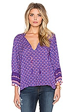 Sunset Road Blouse en Royal
