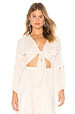 Spell & The Gypsy Collective Seashell Organic Tie Top in Ivory