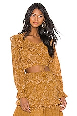 Spell & The Gypsy Collective Lioness Peasant Blouse in Caramel