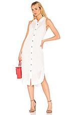 Splendid Draftsman Check Woven Dress in White