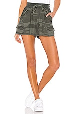 Splendid Camo Dockside Short in Vintage Olive Branch