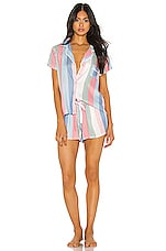 Splendid Shortie PJ Set in Island Stripe