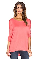 Cashmere Blend Cinched Sweater in Coral Pink