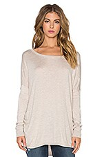 Cashmere Blend Cinched Sweater in Heather Wheat