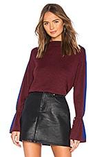 Splendid Alpine Sweater in Ruby & Cobalt