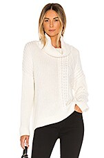 Splendid Lakewood Cable Cashmere Blend Sweater in Natural