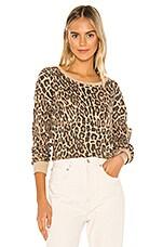 Splendid Academy Sweatshirt in Warm Sand Leopard