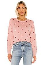 Splendid Jolie Cashmere Blend Sweater in Pink