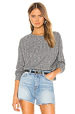Splendid Reed Long Sleeve Top in Heather Charcoal