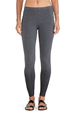 Coated French Terry Legging in Charcoal