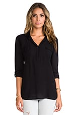 Shirting Top in Black