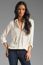 Shirting Button Up Top in Pearl
