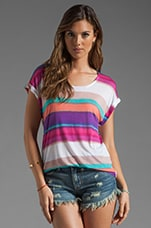 Watercolor Stripe Tee in Sugarcane