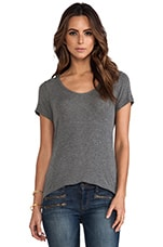 Drapey Lux Short Sleeve Tee in Steel
