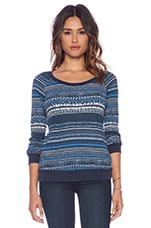 Bowery Street Thermal Top in Navy