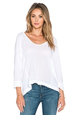 TOP MANCHES LONGUES COTTON GAUZE POCKET