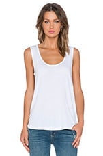 Light Jesey Keyhole Tank in White