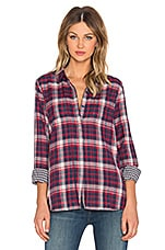 TOP BOUTONNÉ HUNTER PLAID