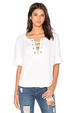 Cozy Modal French Terry Top en Blanc