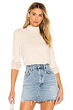 Splendid Eastsider Mock Neck in Oatmeal Heather