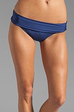 Bayside Solids Banded Bikini Bottom in Navy