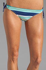 Circus Stripe Tunnel Bikini Bottom in Navy