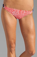 Spotted Retro Bikini Bottom in Coral