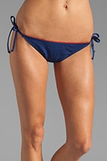 Ginger Eyelet Tie Side Bikini Bottom in Navy
