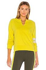 Splits59 Andi Sweatshirt in Yellow & Vintage White