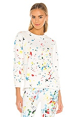 Splits59 Cali French Terry Sweatshirt in Off White Splatter