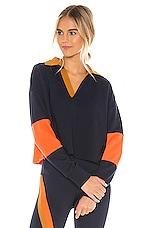 Splits59 Rugby Sweatshirt in Indigo & Orange Multi