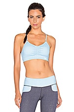Brigitte Sport Bra in Light Chambray