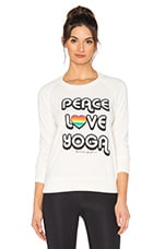 SWEAT STYLE USÉ RETRO PEACE LOVE YOGA