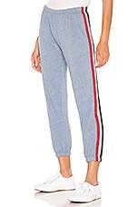 Spiritual Gangster Stripe Perfect Sweatpant in Dusk Blue