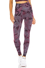 Spiritual Gangster Self Love Legging in Wildberry Galaxy Tie Dye