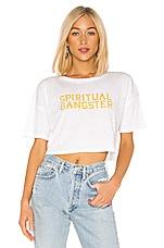 Spiritual Gangster Veracruz Crop Tee in White