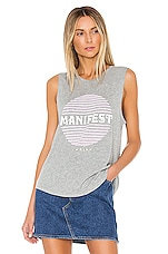 Spiritual Gangster Manifest Muscle Tank in Medium Heather Grey