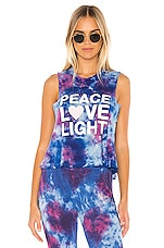 Spiritual Gangster Peace Fun Dye Crop Tank in Nebulus Tie Dye