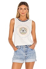 Spiritual Gangster Connected Gigi Muscle Tank in Stone