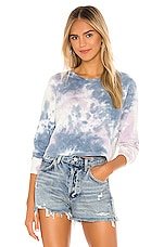 Spiritual Gangster Fiona Long Sleeve in Pastel Cloud Tie Dye