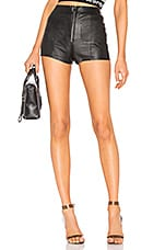 SPRWMN Leather Hot Pants in Black