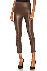 SPRWMN High Waist 3/4 Leather Legging in Chocolate