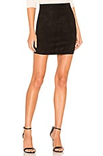 SPRWMN Suede Mini Skirt in Black