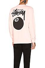 Stussy 8 Ball Pullover Sweatshirt in Blush