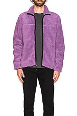 Stussy Sherpa Mock in Purple