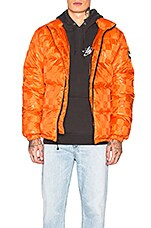 Stussy Puffer Jacket in Orange