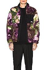 Stussy Reversible Micro Fleece Jacket in Tie Dye